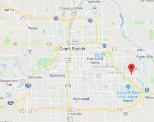 Google Map of new Grand Rapids office for Michigan Solar Solutions